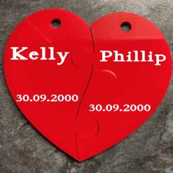 Split heart key ring, valentines, best friend