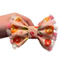 Peach, Please bow tie