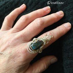 Labradorite Ring 9