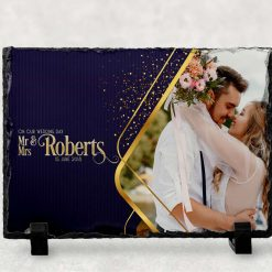 Wedding gift - anniversary - Personalised Photo Print - Natural Rock Slate - Rectangle 19cm x 14cm - Custom Image with stands - Photo Gift (Copy)