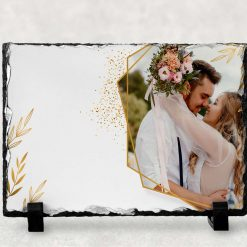 Wedding gift - anniversary - Personalised Photo Print - Natural Rock Slate - Rectangle 19cm x 14cm - Custom Image with stands - Photo Gift (Copy) (Copy)