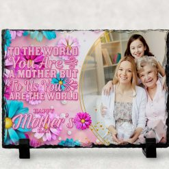 Mother's Day gift - mum gift - Personalised Photo Print - Natural Rock Slate - Rectangle 19cm x 14cm - Custom Image with stands - Photo Gift