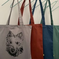 Personalised organic cotton tote bag with image of your own pet with charity donation 8