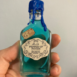 Pepper-up Potion from Harry Potter potion bottle replica