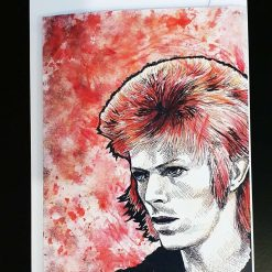 'David Bowie' greeting card