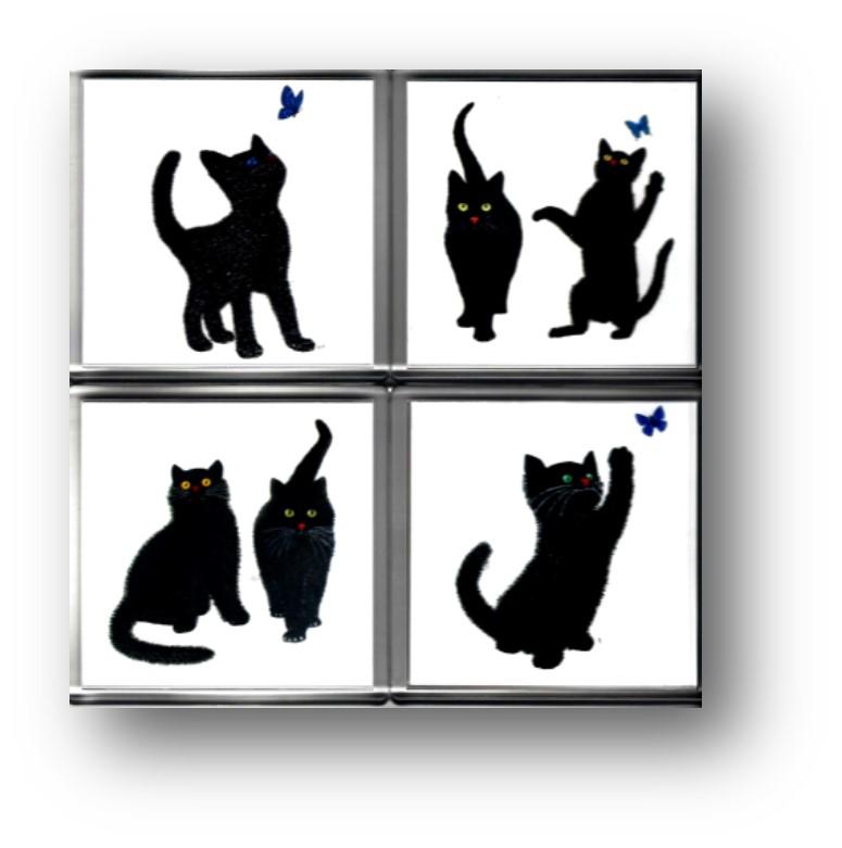 4 x cat coasters 1
