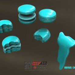 Grogu Space Macarons Prop Replica Cookies