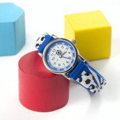 Kids Personalised Blue Football Watch 25