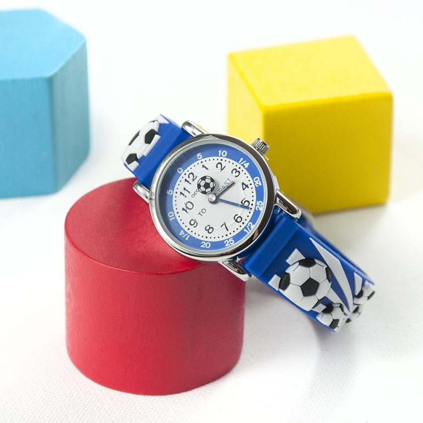 Kids Personalised Blue Football Watch 13