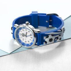 Kids Personalised Blue Football Watch 24