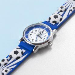 Kids Personalised Blue Football Watch 23