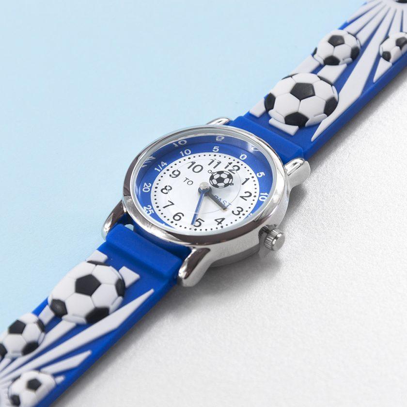 Kids Personalised Blue Football Watch 11
