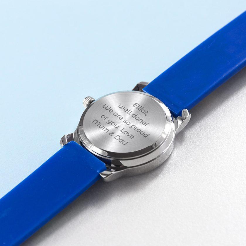 Kids Personalised Blue Football Watch 10