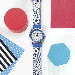 Kids Personalised Blue Football Watch 21