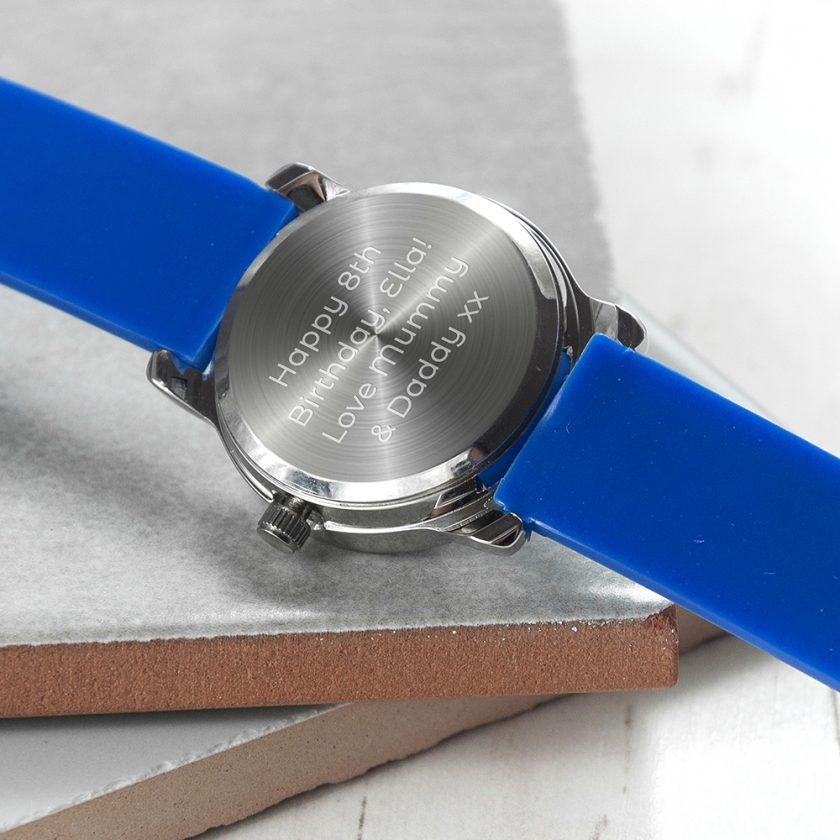 Kids Personalised Blue Football Watch 8