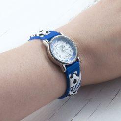 Kids Personalised Blue Football Watch 19