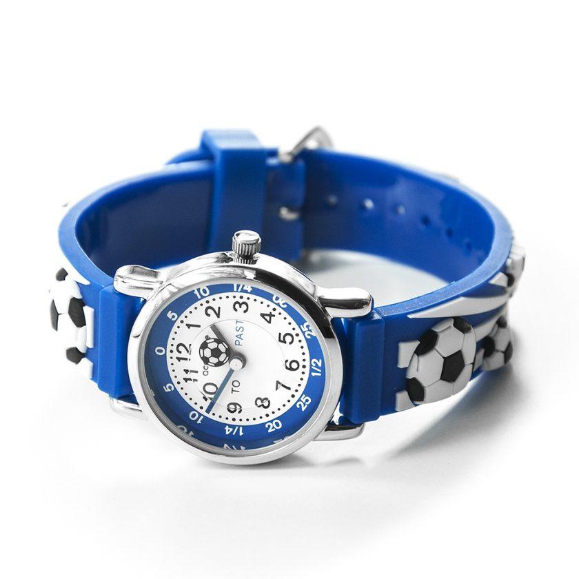 Kids Personalised Blue Football Watch 6