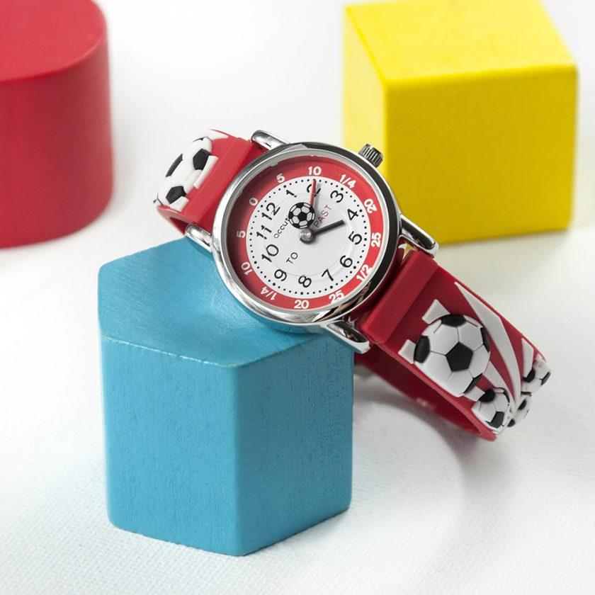 Kids Personalised Red Football Watch 10