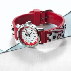 Kids Personalised Red Football Watch 20
