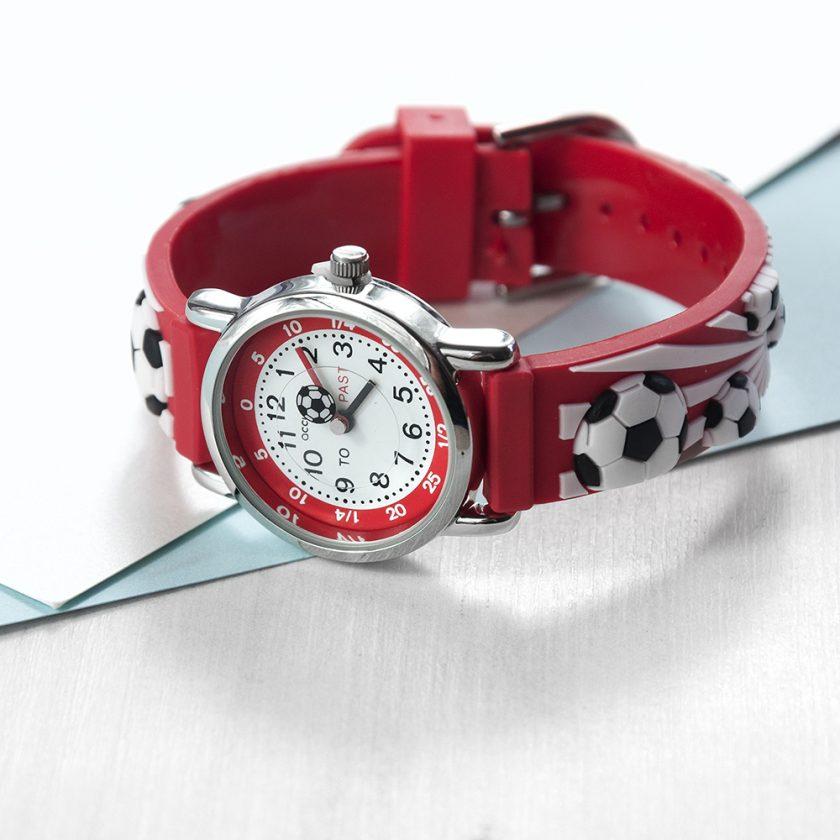 Kids Personalised Red Football Watch 9