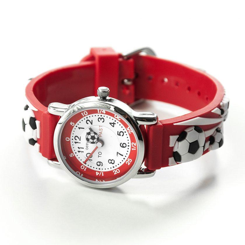Kids Personalised Red Football Watch 5