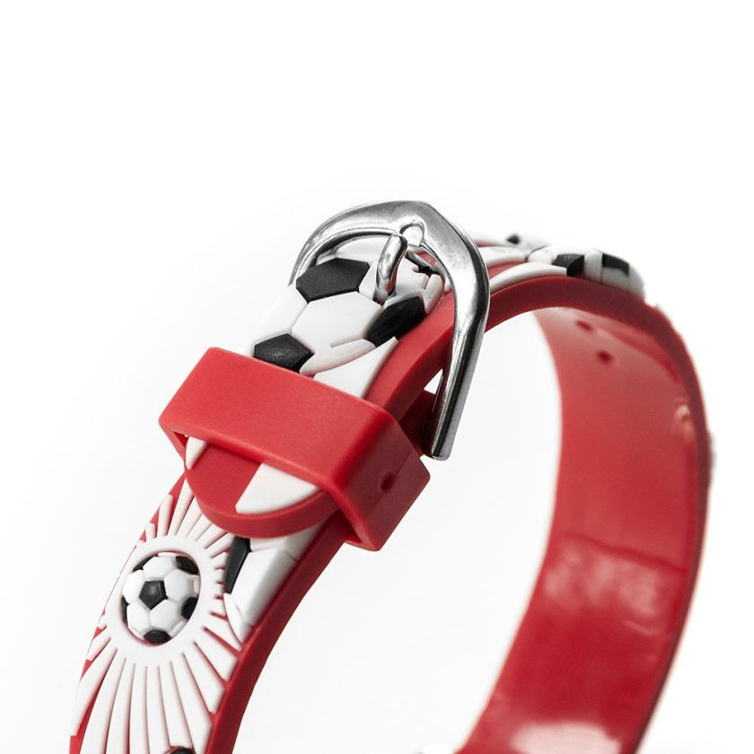 Kids Personalised Red Football Watch 4