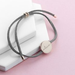 Personalised Always with You Name Grey Bracelet