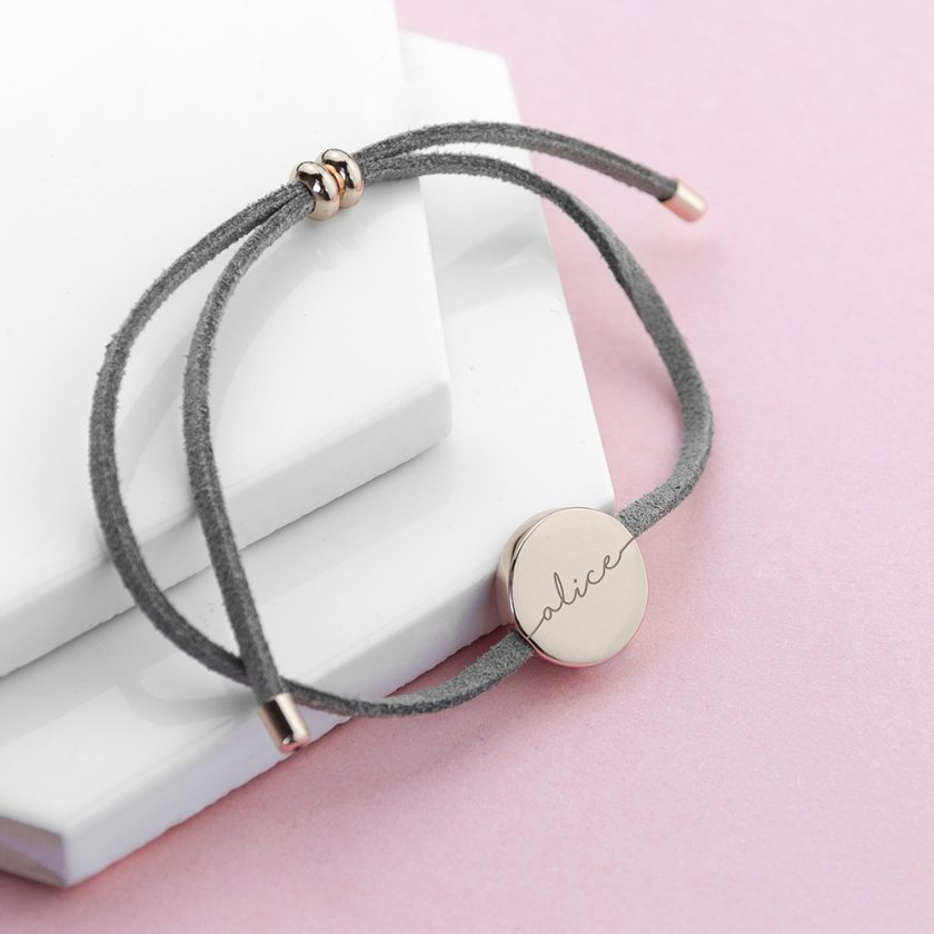 Personalised Always with You Name Grey Bracelet 1