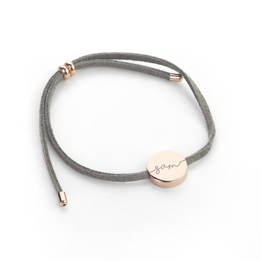 Personalised Always with You Name Grey Bracelet 6