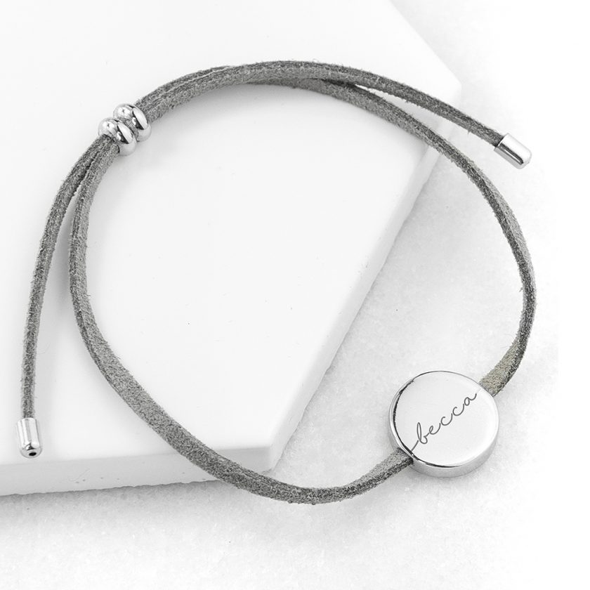 Personalised Always with You Name Grey Bracelet 5