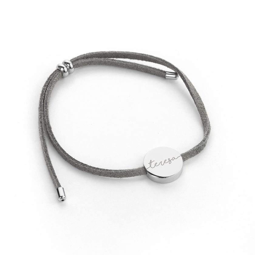 Personalised Always with You Name Grey Bracelet 4
