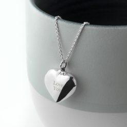 Personalised Cherish Heart Necklace 17