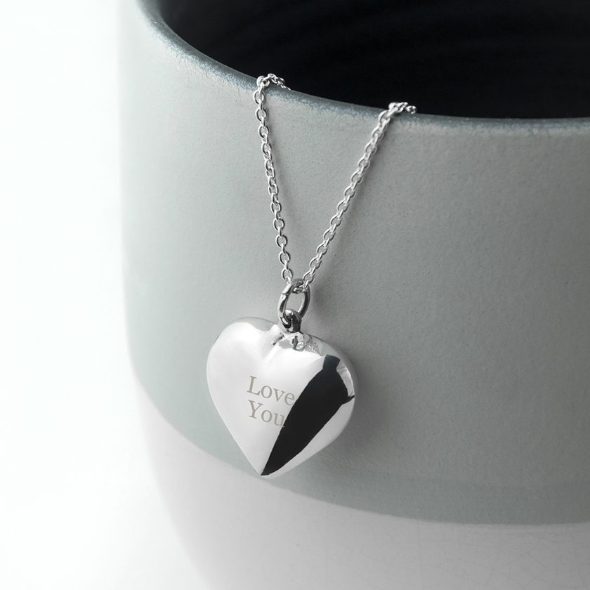 Personalised Cherish Heart Necklace 9