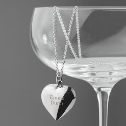 Personalised Cherish Heart Necklace 16
