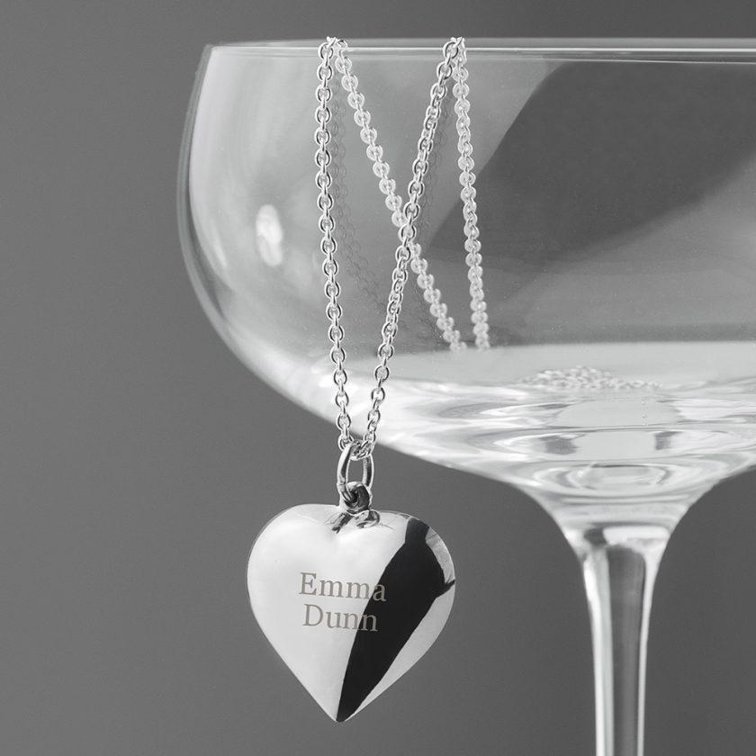 Personalised Cherish Heart Necklace 8