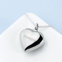 Personalised Cherish Heart Necklace 15