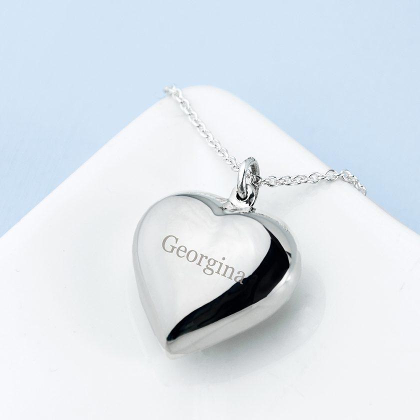 Personalised Cherish Heart Necklace 7