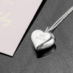 Personalised Cherish Heart Necklace 14