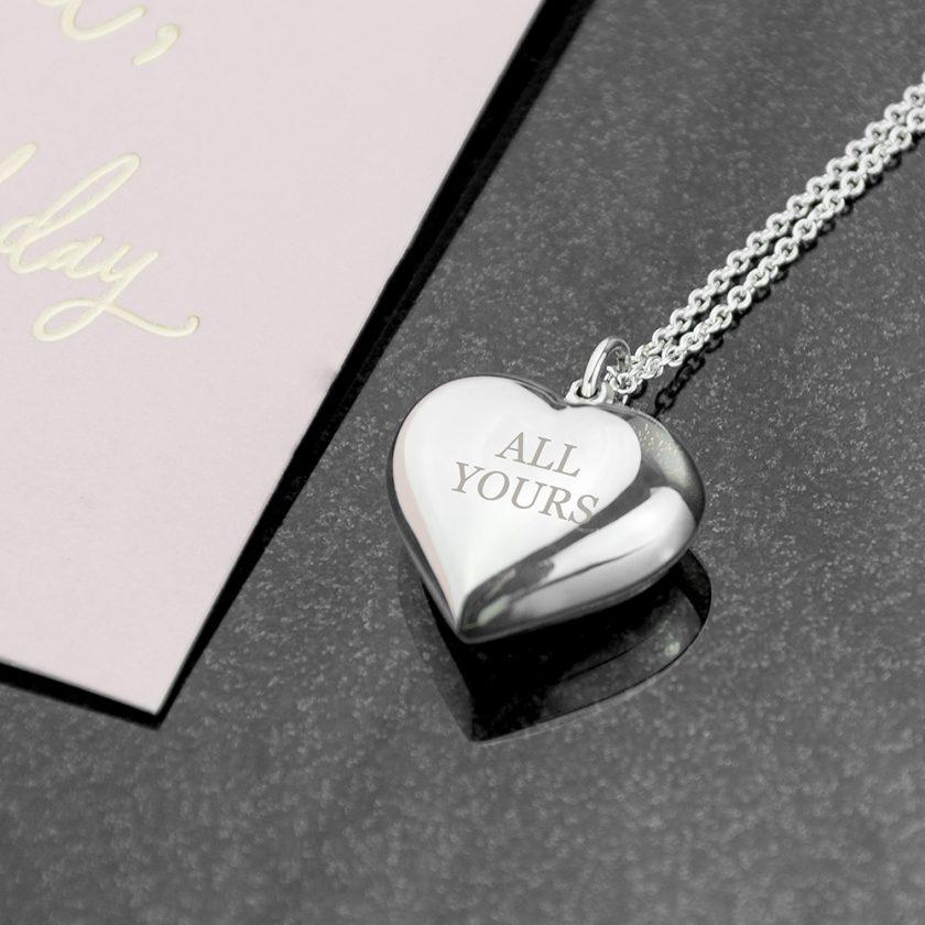 Personalised Cherish Heart Necklace 6