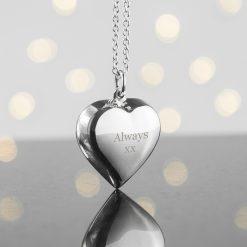 Personalised Cherish Heart Necklace 13