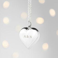 Personalised Cherish Heart Necklace 12