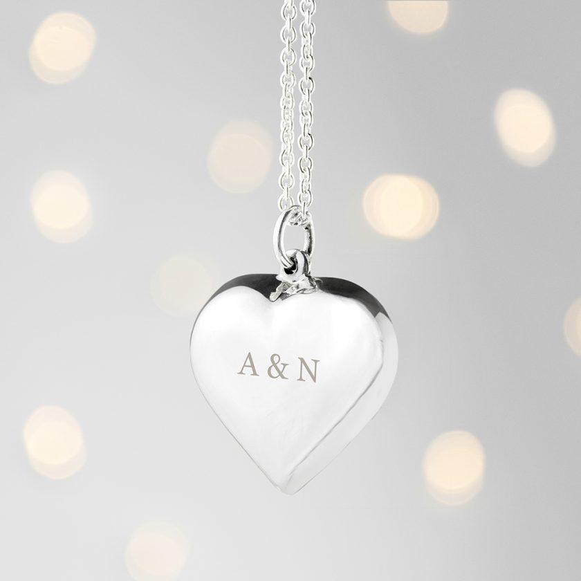 Personalised Cherish Heart Necklace 4