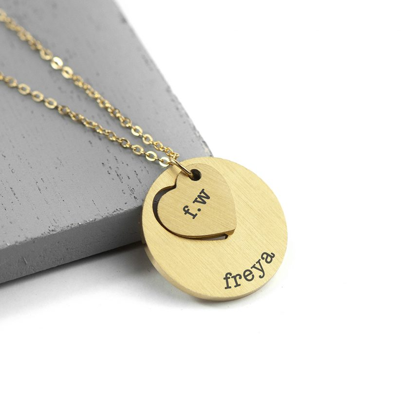 Personalised Cut-Out Heart Shape Necklace 9