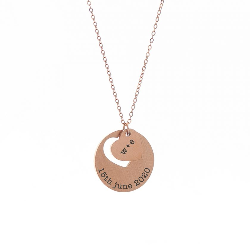 Personalised Cut-Out Heart Shape Necklace 8