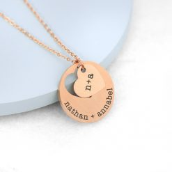 Personalised Cut-Out Heart Shape Necklace 16