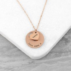 Personalised Cut-Out Heart Shape Necklace 15