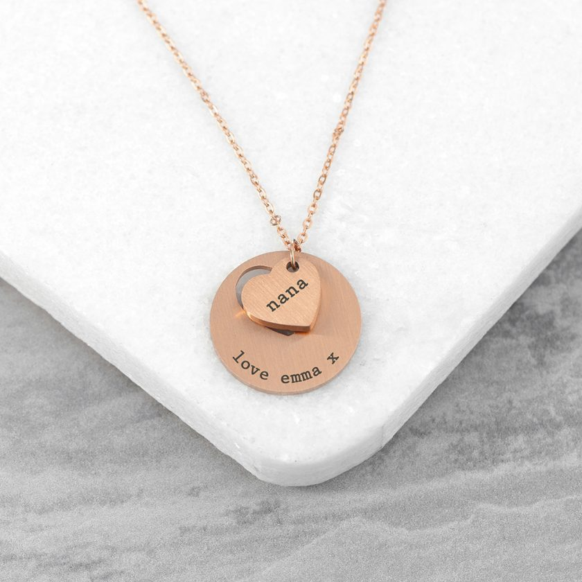 Personalised Cut-Out Heart Shape Necklace 6
