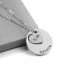 Personalised Cut-Out Heart Shape Necklace 14