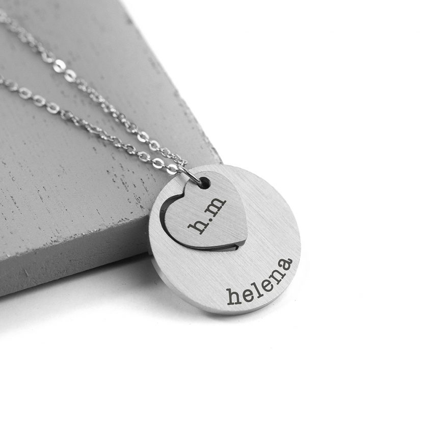 Personalised Cut-Out Heart Shape Necklace 5