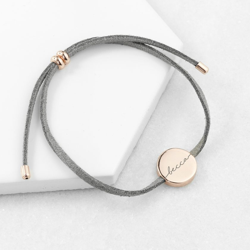 Personalised Always with You Name Grey Bracelet 3
